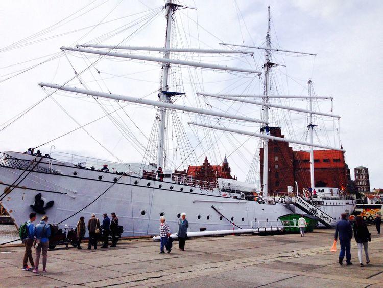 Gestrandete Gorch Fock Segelschiff