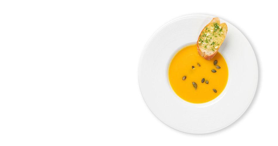 Directly above shot of orange slice in plate