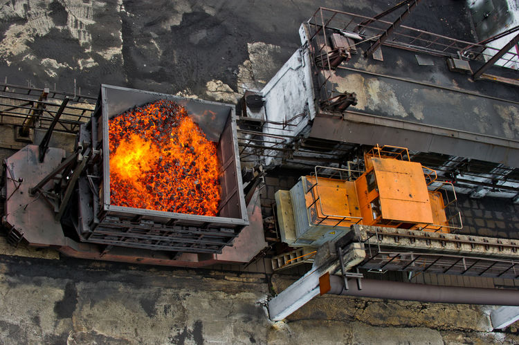 NLMK, Altai coke plant, Russia, metallurgy, wewalka coke from ovens Architecture Built Structure Burning Flame NLMK, Altai Coke Plant, Russia, Metallurgy, Wewalka Coke From Ovens No People Orange Color Outdoors