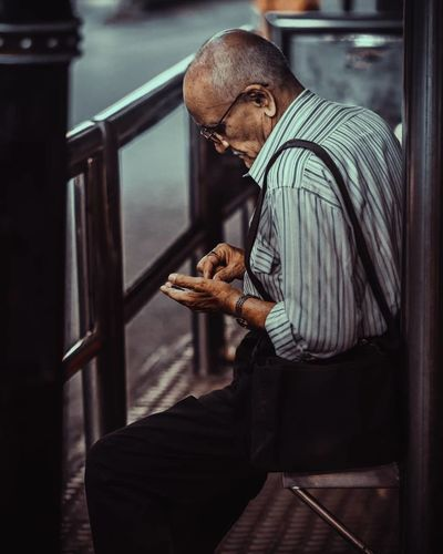 waiting Street Streetphotography Street Light Streetphoto Waiting Street Life Street Market Butcher Men Business Business Finance And Industry Standing Businessman Senior Men Grandfather Active Seniors 70-79 Years Retirement Community The Street Photographer - 2019 EyeEm Awards
