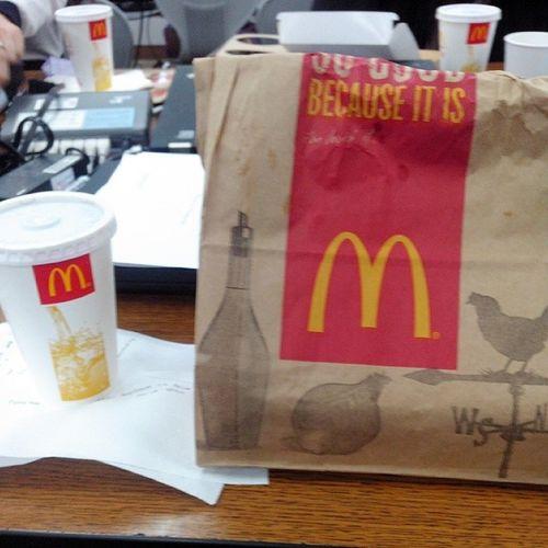 Dinner at work. I can feel the busy season. Mcdinner Newlife Unhealthylifestyle
