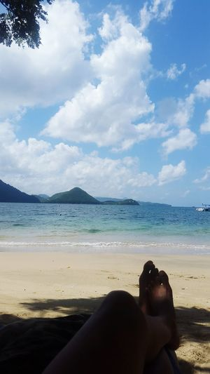Life in the tropics Islandgirl Islandlife Saintlucia Beach Cloud - Sky Human Body Part Outdoors Sky Sea Beauty In Nature Caribbean PigeonPoint