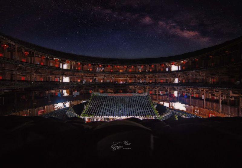 梦里相遇 Sky Night Taking Photos Girl Dreaming Quiet Landscape Star Stars
