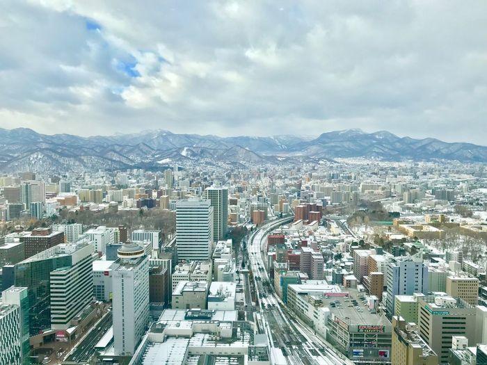 City Architecture Cloud - Sky Cityscape Sky Building Exterior Built Structure Landscape High Angle View