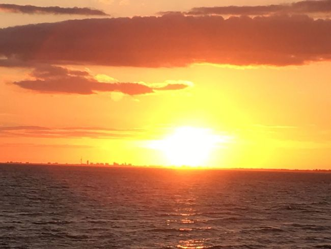 Sunset Sun Orange Color Sea Scenics Sunlight Beauty In Nature Tranquility Sky Outdoors Water Beach EyeEmNewHere