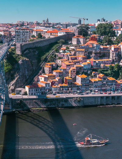 Porto Porto Portugal 🇵🇹 Portugal Eiffel Bridge - Man Made Structure Bridge Bridges Europe City Landscape Top View Top View Of City Life Canal River River View Travel Travel Destinations Tranquility Holiday Love City Cityscape Pattern People Pattern, Texture, Shape And Form Architecture Built Structure Building Exterior Nature Day Outdoors Transportation Water Connection Nautical Vessel Building Residential District No People Mode Of Transportation Arch Bridge