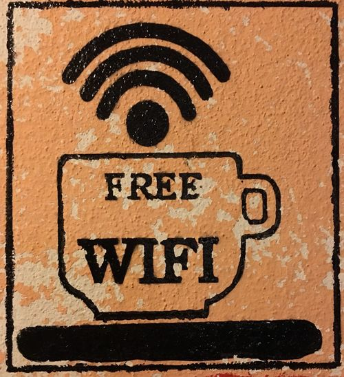 Wifi free coffee shop Wifi Icon Wifihotspot Coffee Shop Wifi Free WIFI Zone No People Outdoors Day Close-up