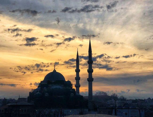 Sunset Architecture Sky Cloud - Sky Dome Built Structure Religion