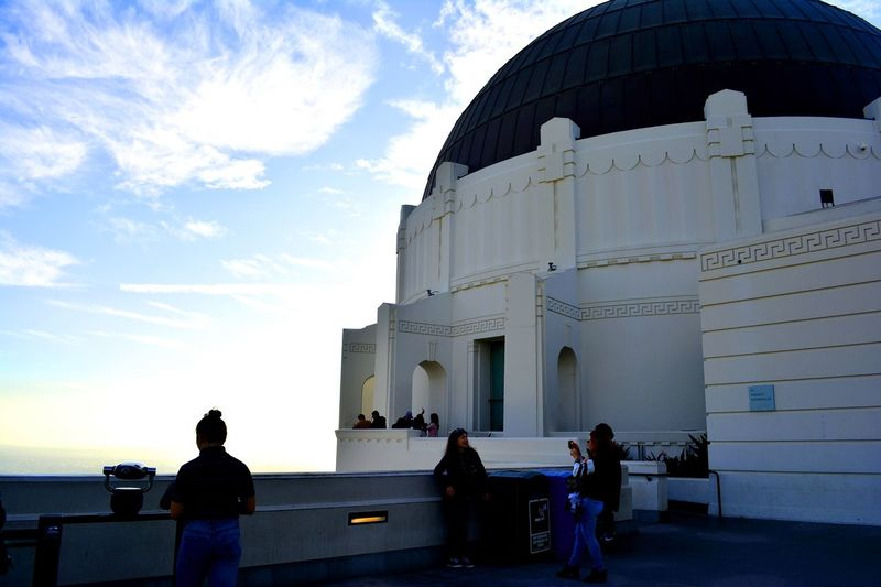 Grififth observatory Grififth Observatory Architecture Sky Built Structure Group Of People Real People Building Exterior Travel Large Group Of People Tourism Dome