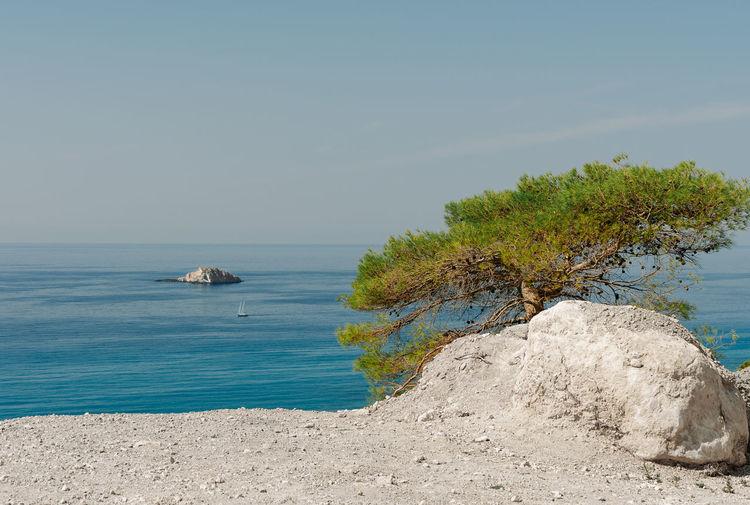 Lefkada Lefkada, Greece Greece Nature Landscape Water Tree Sea Beach Blue Clear Sky Sunlight Nautical Vessel Summer Seascape Island Rocky Coastline Coastline