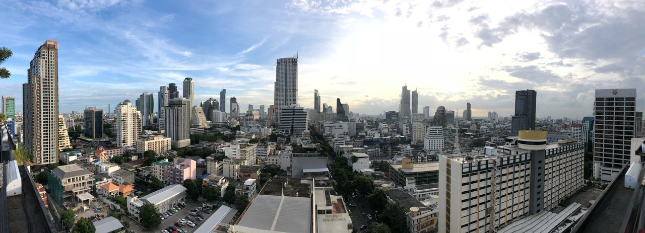 Bangkok from Top City Building Exterior Built Structure Architecture Building Sky Cityscape Modern Skyscraper Urban Skyline