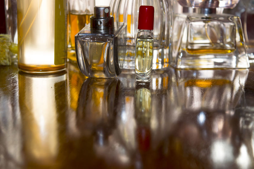 reflections through perfume bottles Appeal Beauty Bottles Charm Light Light And Shadow Perfume Reflections