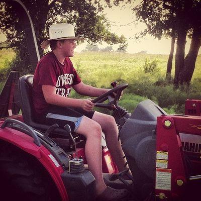 Haymaker Diesel Tractor Rookie cowboy solo brushhog pasture