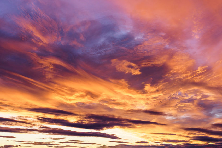 Sunset Backgrounds Multi Colored Sky Only Abstract Blue Yellow Sunlight Awe Dramatic Sky Meteorology Heaven Moody Sky Atmospheric Mood Romantic Sky Cloudscape