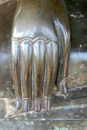 Detail statue: hand. Vientiane, Laos. Religious Art Statue Vientiane, Laos Close-up Day Detail Hand Indoors  No People Statue