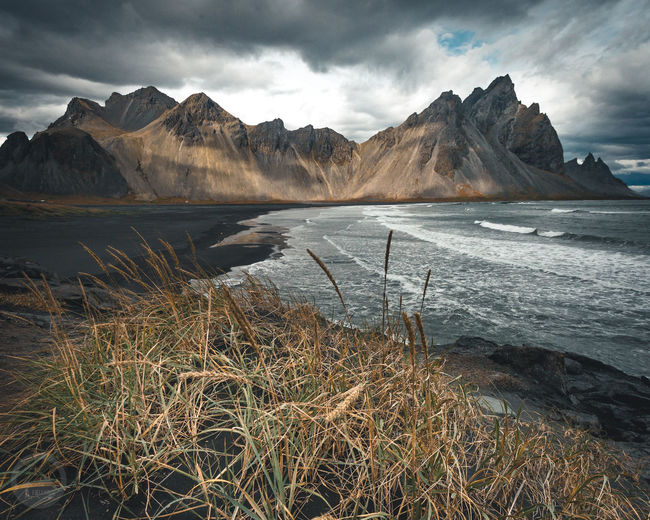 Stokksnes Wave Galaxy Mountain Snow Water Lake Star - Space Sky Landscape Mountain Range Cold Temperature Cold