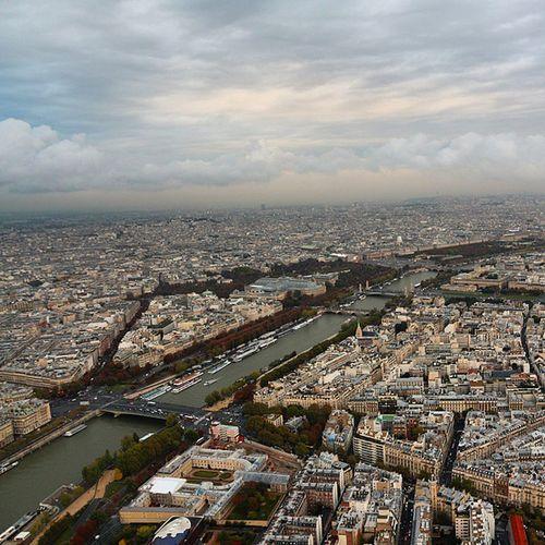 La Seine | Seine River | Paris From Eiffel Tower-3 France 2014 France Paris Laseine Seine