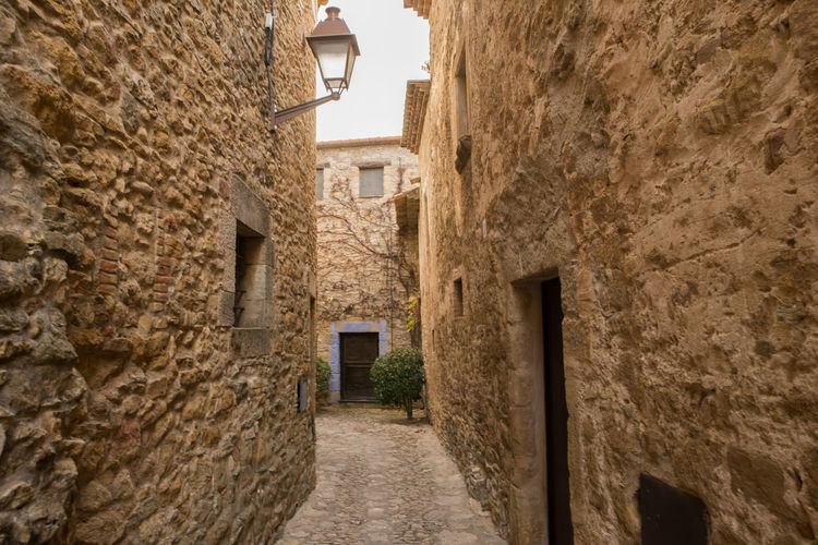 Catalonia Country Girona Rural SPAIN Alley Architecture Building Exterior Built Structure Day Medieval No People Old Outdoors Peratallada The Way Forward Walkway