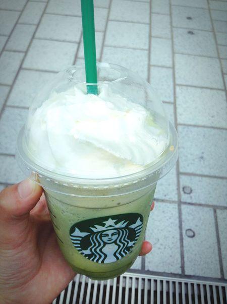 Summer Starbucks 夏 スタバ 抹茶クリームフラペチーノ