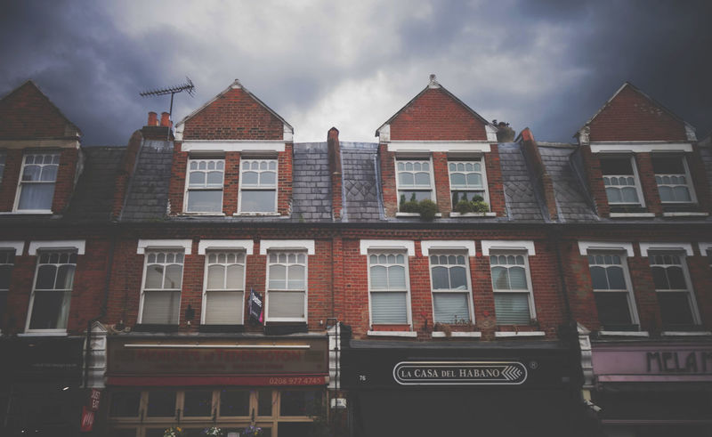 Architecture Building Exterior Cloud - Sky Creepy Dark Clouds England In A Row Low Angle View No People Teddington Window