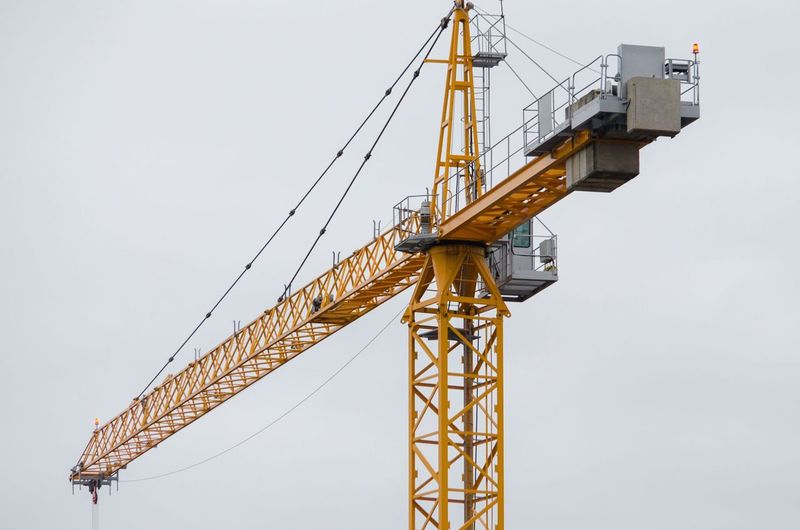 Nikon Architecture Built Structure Clear Sky Construction Equipment Construction Industry Construction Machinery Construction Site Copy Space Crane - Construction Machinery Day Development Incomplete Industry Low Angle View Machinery Metal Nature No People Outdoors Sky Tall - High