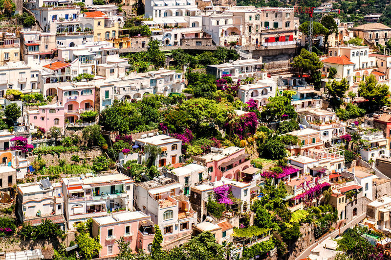 High Angle View Of Houses At Positano