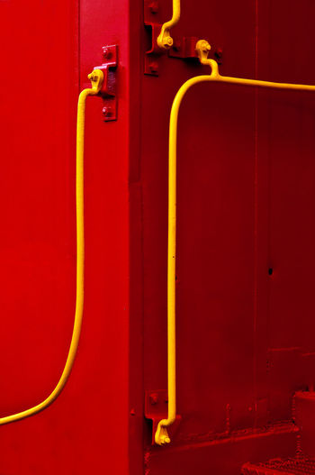 Close-up of red pipe