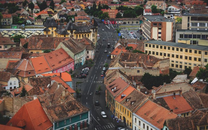 Old town Sibiu Sibiu, Romania Building Exterior Architecture Built Structure City High Angle View Building Crowd Residential District Roof Outdoors Full Frame Cityscape Town Crowded