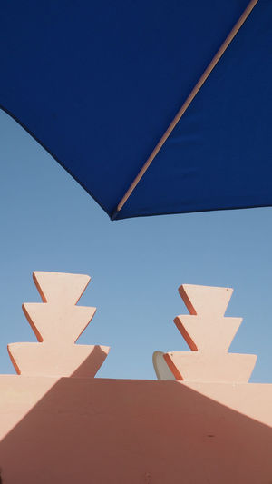 Umbrella Against Clear Blue Sky
