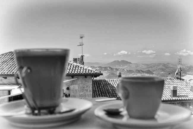 Coffee Break Bnw_coffee Bnw_friday_eyeemchallenge Close-up Coffee - Drink Coffee Cup Drink Espresso Food And Drink Latte Macchiato Place Setting Refreshment