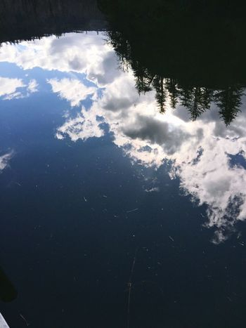 Sky Nature Beauty In Nature Water Scenics Cloud - Sky Outdoors Day Tranquility Scenic View Reflections Silhouette Abstractions Reflection