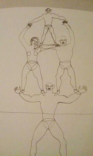 Alexander Calder Drawing ✏ Tumbling Family Fine Art Photography