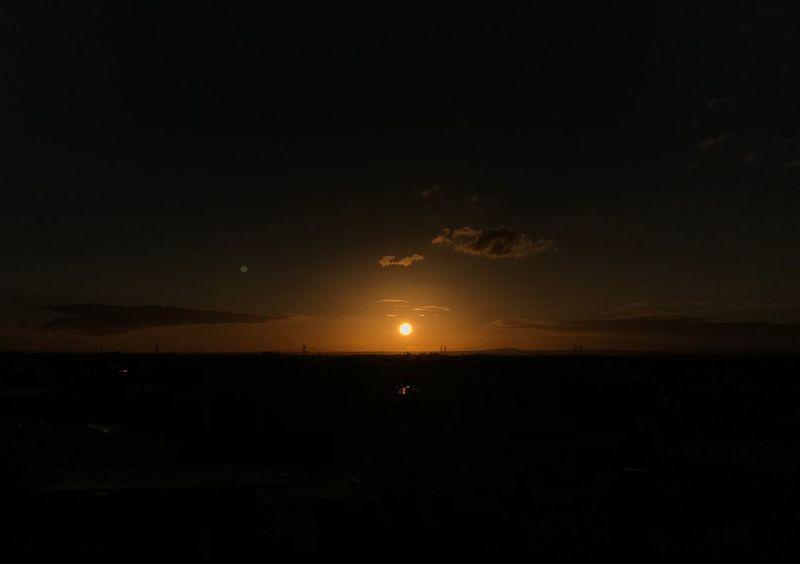 Sunset Sky Beauty In Nature Scenics - Nature Night Water Nature Sea Horizon Outdoors Horizon Over Water Tranquil Scene Tranquility No People Idyllic Cloud - Sky Silhouette Copy Space Dark Illuminated