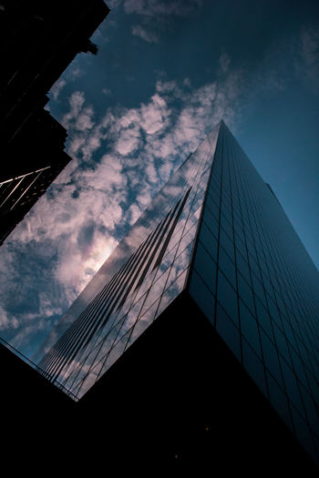 Sky. New York City Architecture Building Building Exterior Built Structure City Cloud - Sky Day Modern No People Office Office Building Exterior Outdoors Reflection Sky Skyscraper Tall - High Tower Travel Destinations World Trade Center