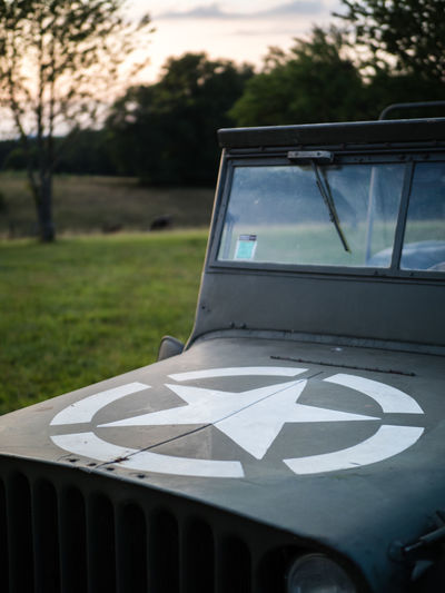 France United States World War 2 Army Day Evening Grass Jeep Land Land Vehicle Military Military Car Mode Of Transportation Motor Vehicle Outdoors Peaceful Star U.s. Army Us Army War Windshield Ww2