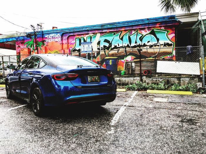 She's a beast in the streets Streetracing Carswithoutlimits Graffiti Creativity Road Car Street Multi Colored First Eyeem Photo