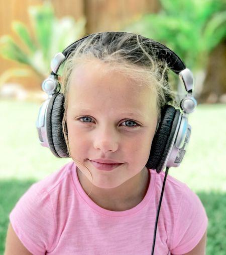 Girl wearing DJ headphones. Looking At Camera dj Headphones Girl Dj Equipment Ericimbs Portrait