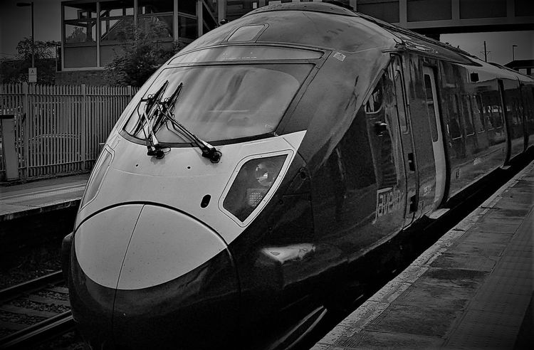 This a black and white photo shot at Sittingbourne Train Station with a 395 Southeastern Highspeed train. Black And White Black And White Collection  Black And White Photo Black And White Photography Built Structure Close-up Day England, UK Fast Train High Speed Train Land Vehicle Mode Of Transport No People Outdoors Public Transportation Southeastern Trains Stationary Trains Trains And Station Trains_worldwide Trainspotting Transportation Transportation Uk United Kingdom