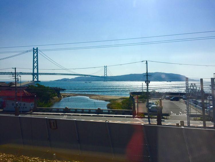 神戸線の車窓から淡路島を望む。 Seaside Sea And Sky Seascape Railway Through The Window IPhoneography Hyogo,japan Awaji