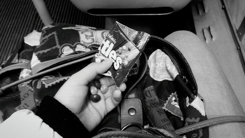 On the way to the dormitory. Tram Skittles Tired Hi! That's Me Punkrock AdvantureTime Afterthelessons
