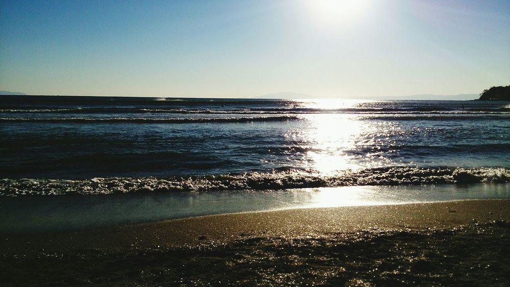 携帯壊れて新しいアカウントで再出発……由比ガ浜 Sea And Sky キラキラ First Eyeem Photo