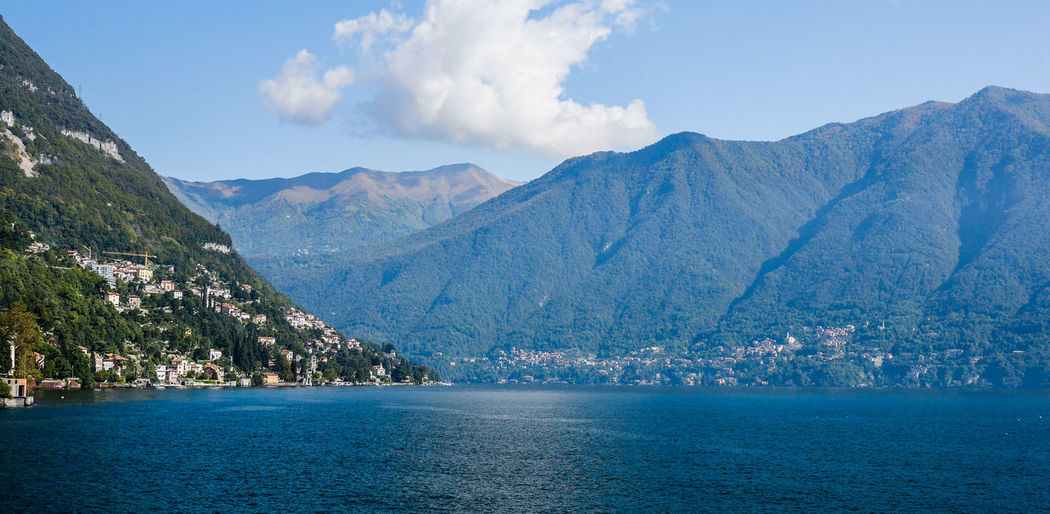 Scenic View Of Lake Como By Mountains Against Sky