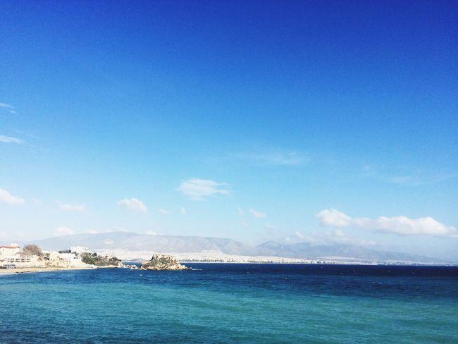 Piraeus Port Seaside Blue Sky Blue Sea Blue Water Sea Sea And Sky
