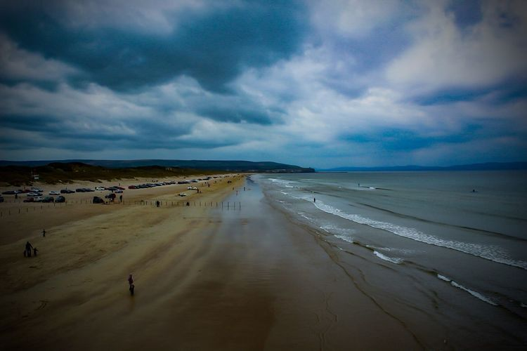 Portstewart Strand, County Antrim, North Coast, Northern Ireland, Beach Sand Sea Sky Nature Scenics Cloud - Sky Beauty In Nature Water Tranquility Tranquil Scene Horizon Over Water Outdoors Day Landscape Wave No People The Great Outdoors - 2017 EyeEm Awards