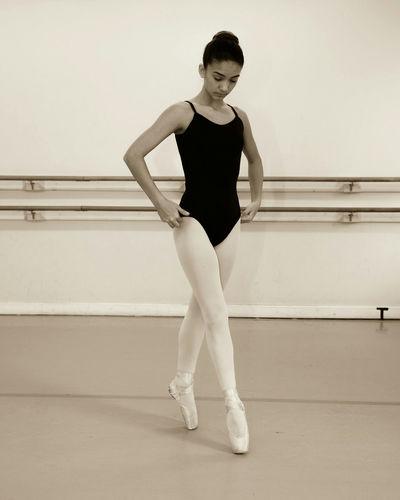 Full Length Portrait Of Ballet Dancer