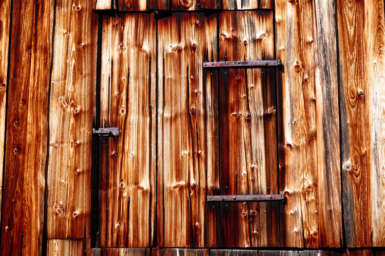 Architecture Backgrounds Brown Built Structure Close-up Closed Day Door Entrance Full Frame Latch Nail No People Old Pattern Protection Safety Security Textured  Weathered Wood Wood - Material Wood Grain