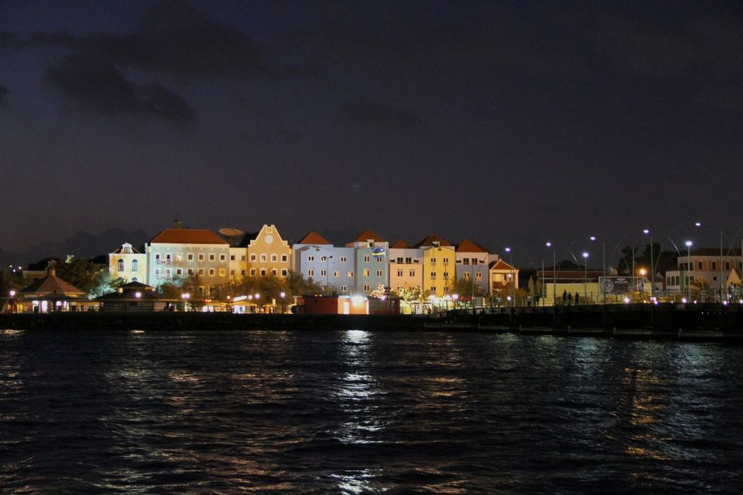 Architecture Building Exterior Built Structure City Cityscape Illuminated Night No People Otrabanda Outdoors Water Waterfront