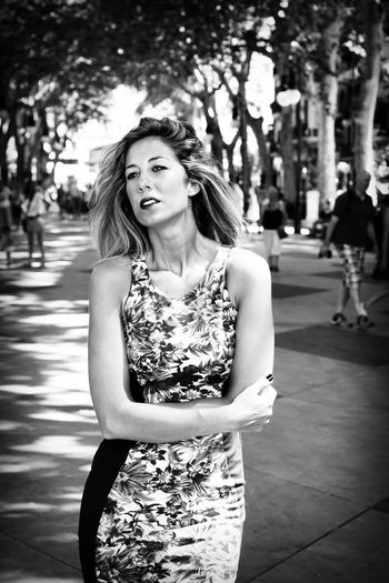 Alone Beautiful Beauty Black And White Blond City Cloth Facial Expressions Fashion Freeze Girl Health Lady Love Mallorca Palma De Mallorca Portrait Problem Psychology Sad Sickness Sorrow Summer View Woman