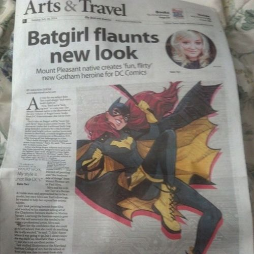 No big deal or anything, but the lady drawing the new Batgirl and such is from my town. ?? Batgirl Barbaragordon Dccomics Art dc native newlook nobigdeal nofilter awesome kickass