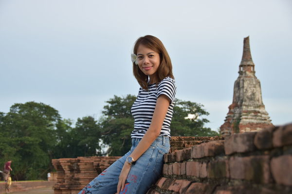 Amazing architecture Amazing Place Ayutthaya Happy People Possitive Mind Thailand Women Who Inspire You Building Story Built Structure Smiling Tourism Travel Destinations women around the world